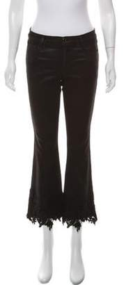 J Brand Mid-Rise Lace Jeans Black Mid-Rise Lace Jeans