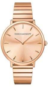 Rebecca Minkoff Major Rose Gold Tone Bracelet Watch, 35MM