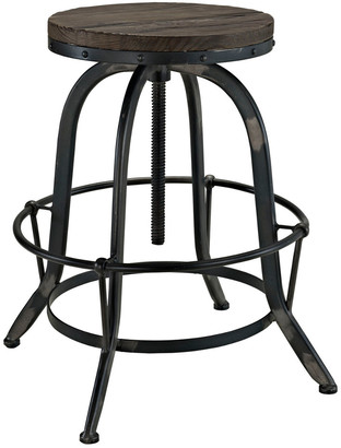 Modway Collect Pine Wood Top Bar Stool