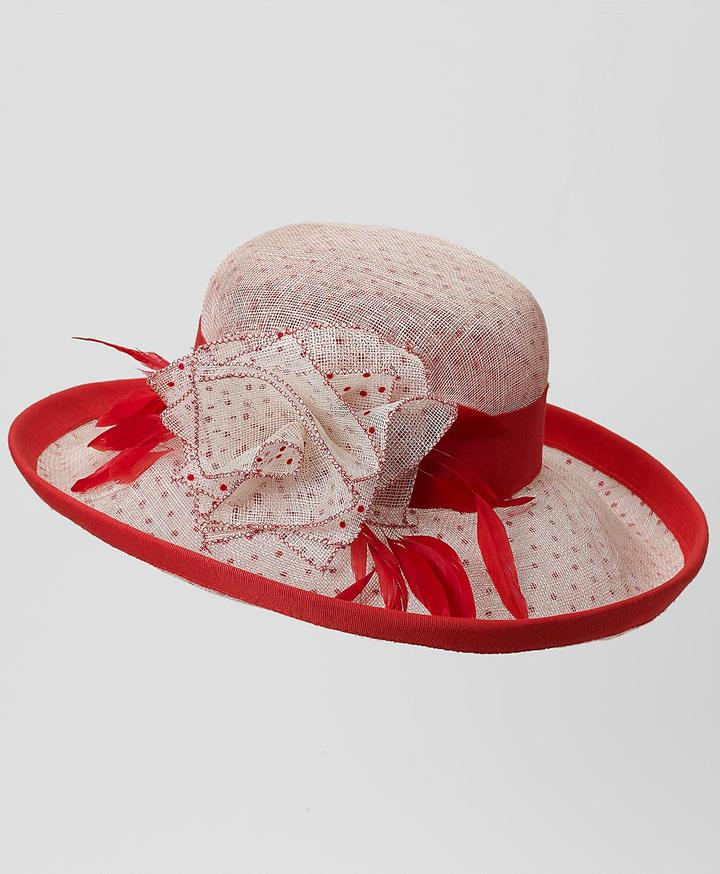 Feather Bow Dot Derby Hat