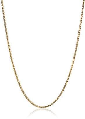 14k Gold .7mm Diamond-Cut Wheat Chain Necklace