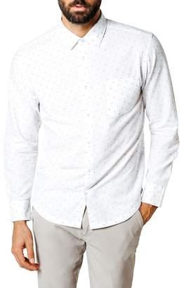 Good Man Brand Geometric Print Trim Fit Sport Shirt