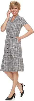 Dana Buchman Women's Notch Collar Dress