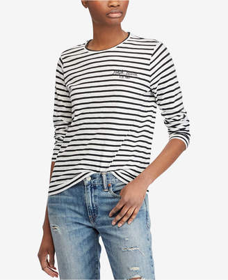 ... Polo Ralph Lauren Striped Long-Sleeve Cotton T-Shirt