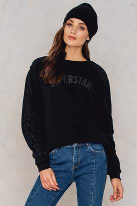 SuperStar Colourful Rebel Laced Oversized Sweat Black