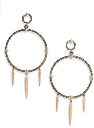 Armenta New World Large Circle Dagger Earrings