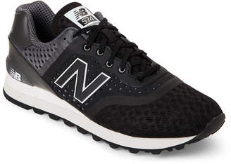 New Balance Black & Grey 574 Lifestyle Sneakers