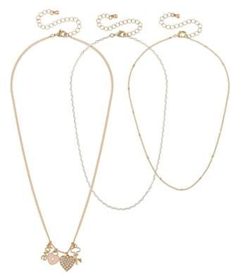 Capelli New York Set of 3 Charm Necklaces