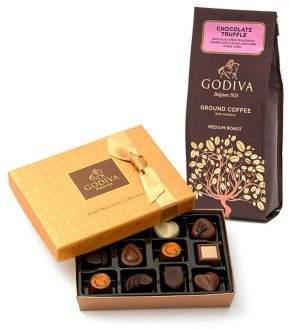 Godiva Core Chocolatier 12-Piece Gold Discovery Box and Chocolate Coffee Gift Set