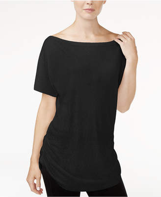 Rachel Roy Ruched Boat-Neck T-Shirt, Created for Macy's