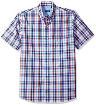 Izod Men's Saltwater Breeze Plaid Short Sleeve Shirt