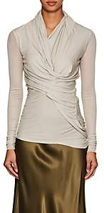 Rick Owens Women's Draped Jersey Top - Light Gray