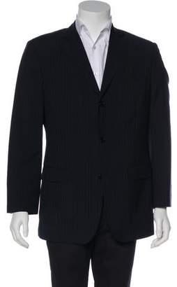 Balmain Wool Pinstripe Blazer