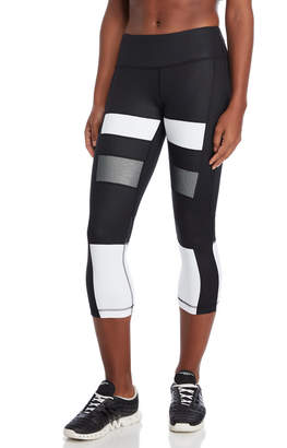 90 Degree By Reflex Black Color Block Cropped Leggings