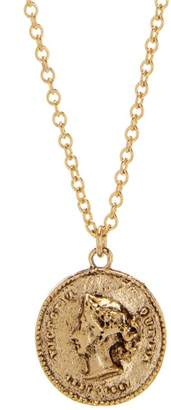 Yochi Queen Victoria Coin Pendant Necklace