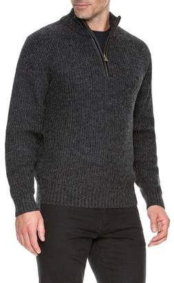 RODD AND GUNN Huka Lodge Quarter Zip Elbow Patch Sweater