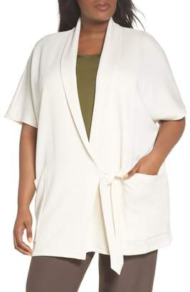 Eileen Fisher Organic Cotton Blend Kimono Jacket