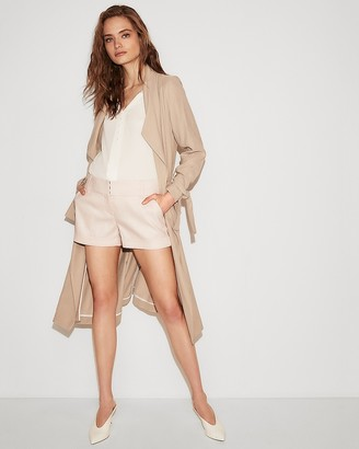 Express Low Rise Linen-Blend Shorts