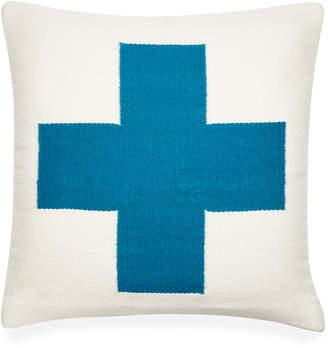Jonathan Adler Reversible Turquoise Cross Pop Throw Pillow