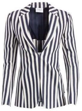 Akris Punto Striped Linen-Blend Blazer