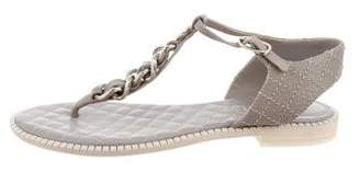 Chanel Chain-Link Quilted Sandals