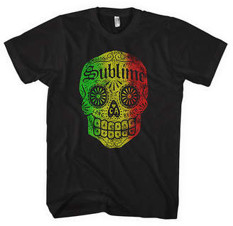 Novelty T-Shirts Sublime Long Beach, CA Skull Graphic Tee