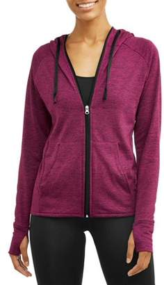 ONLINE Women's Core Active Tech Fleece Full Zip Hoodie With Thumbholes