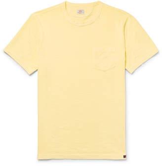 Faherty Slim-Fit Garment-Dyed Slub Cotton-Jersey T-Shirt - Yellow