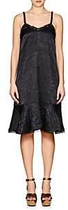 Koché Women's Bead-Embellished Crinkled Satin Slipdress - Black