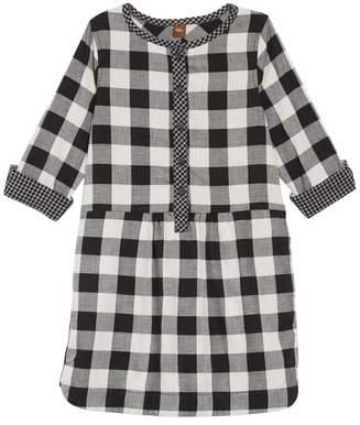 Tea Collection Checkered Plaid Shirtdress