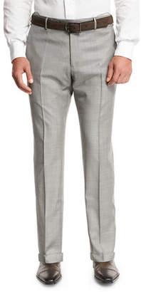 Zanella Super 130s Wool Sharkskin Trousers