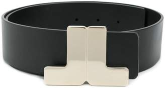 Lanvin logo plaque belt