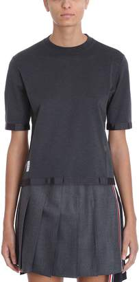 Thom Browne Pique Sheer Back Short Sleeve Tee Shirt