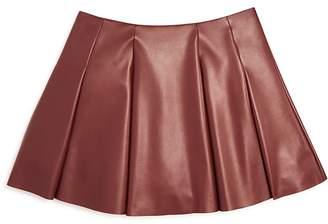 Aqua Girls' Faux Leather Mini Skirt , Big Kid - 100% Exclusive