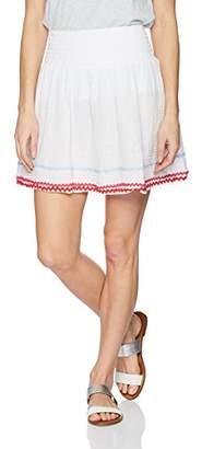 Michael Stars Women's RIC rac Double Gauze Smocked Waist Skirt