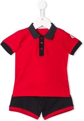 Moncler polo-shirt shorties set