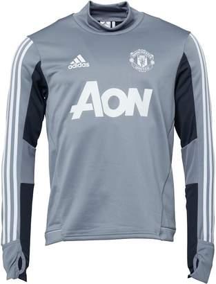adidas Mens MUFC Manchester United Training Top Grey/Night Grey/White
