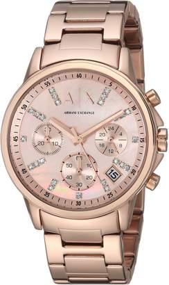 Armani Exchange A|X  Women's AX4326 Analog Display Analog Quartz Rose Gold Watch