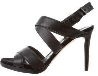 Reed Krakoff Leather Crossover Sandals. w/ Box and Dust Bag.