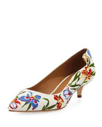 Tory Burch Elizabeth Floral-Embroidered Pump
