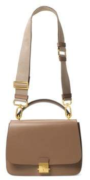 Michael Kors Mia Leather Top Handle Shoulder Bag