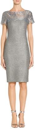 St. John Metallic Sequin Knit Dress