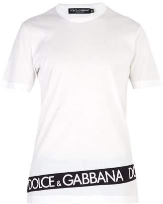 Dolce & Gabbana Logo Band Cotton T Shirt - Mens - White