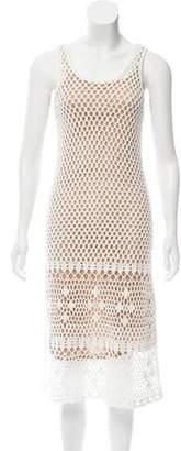 MICHAEL Michael Kors Open-Knit Midi Dress