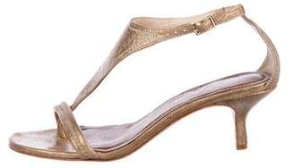 Donald J Pliner Metallic Leather Thong Sandals