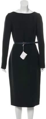 Christian Dior Silk & Wool-Blend Dress Black Silk & Wool-Blend Dress