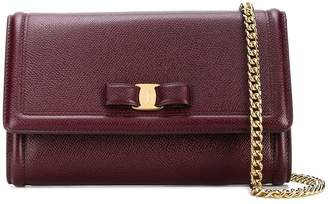 Salvatore Ferragamo Vara leather chain wallet