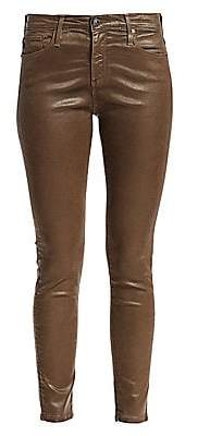 AG Jeans Women's Farrah Ankle Leatherette Skinny Jeans