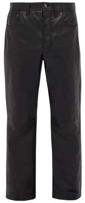 Acne Studios Lancelot Leather Trousers - Mens - Black