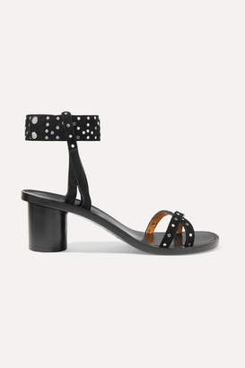 Isabel Marant Joakee Studded Suede Sandals - Black